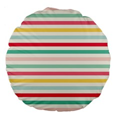 Papel De Envolver Hooray Circus Stripe Red Pink Dot Large 18  Premium Flano Round Cushions by Amaryn4rt