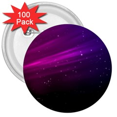 Purple Wallpaper 3  Buttons (100 Pack)  by Amaryn4rt