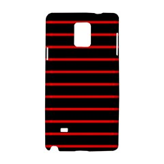 Red And Black Horizontal Lines And Stripes Seamless Tileable Samsung Galaxy Note 4 Hardshell Case by Amaryn4rt
