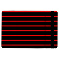 Red And Black Horizontal Lines And Stripes Seamless Tileable iPad Air 2 Flip by Amaryn4rt