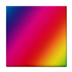 Rainbow Colors Face Towel by Amaryn4rt
