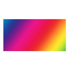 Rainbow Colors Satin Shawl by Amaryn4rt