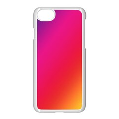 Rainbow Colors Apple Iphone 7 Seamless Case (white) by Amaryn4rt