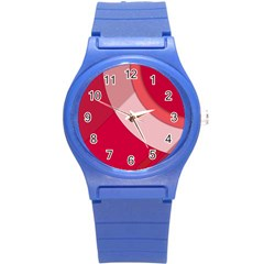 Red Material Design Round Plastic Sport Watch (s) by Amaryn4rt