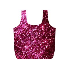 Pink Glitter Full Print Recycle Bags (s)