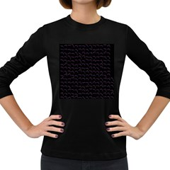 Smooth Color Pattern Women s Long Sleeve Dark T Shirts by Amaryn4rt
