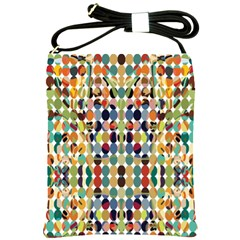 Retro Pattern Abstract Shoulder Sling Bags by Amaryn4rt