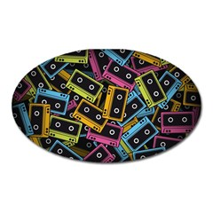 Type Pattern Oval Magnet by Amaryn4rt