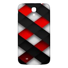 Red Textured Samsung Galaxy Mega I9200 Hardshell Back Case by Amaryn4rt