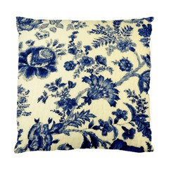 Vintage Blue Drawings On Fabric Standard Cushion Case (one Side) by Amaryn4rt