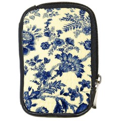 Vintage Blue Drawings On Fabric Compact Camera Cases by Amaryn4rt
