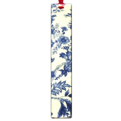 Vintage Blue Drawings On Fabric Large Book Marks by Amaryn4rt