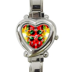 Abstract Digital Design Heart Italian Charm Watch