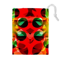 Abstract Digital Design Drawstring Pouches (extra Large)