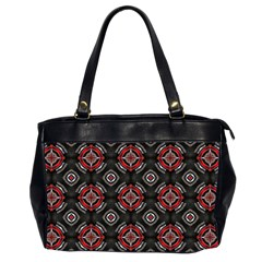 Abstract Black And Red Pattern Office Handbags (2 Sides)