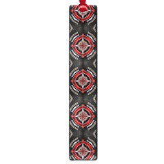 Abstract Black And Red Pattern Large Book Marks
