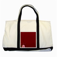 Funny Donuts Two Tone Tote Bag by Brittlevirginclothing