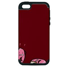 Funny Donut Apple Iphone 5 Hardshell Case (pc+silicone) by Brittlevirginclothing