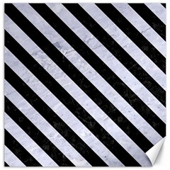 STR3 BK-WH MARBLE (R) Canvas 20  x 20   by trendistuff