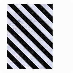 Stripes3 Black Marble & White Marble (r) Small Garden Flag (two Sides) by trendistuff