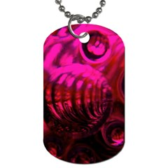 Abstract Bubble Background Dog Tag (two Sides) by Amaryn4rt