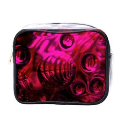 Abstract Bubble Background Mini Toiletries Bags