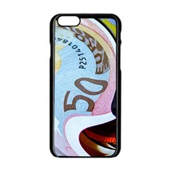 Abstract Currency Background Apple Iphone 6/6s Black Enamel Case by Amaryn4rt