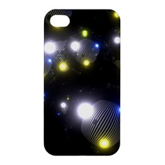 Abstract Dark Spheres Psy Trance Apple Iphone 4/4s Premium Hardshell Case by Amaryn4rt