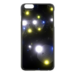 Abstract Dark Spheres Psy Trance Apple Iphone 6 Plus/6s Plus Black Enamel Case by Amaryn4rt