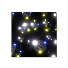 Abstract Dark Spheres Psy Trance Satin Bandana Scarf by Amaryn4rt