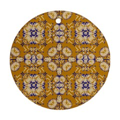 Abstract Elegant Background Card Round Ornament (two Sides)