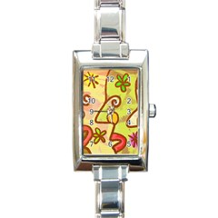 Abstract Faces Abstract Spiral Rectangle Italian Charm Watch by Amaryn4rt