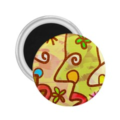 Abstract Faces Abstract Spiral 2 25  Magnets by Amaryn4rt