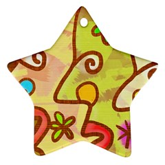 Abstract Faces Abstract Spiral Ornament (star) by Amaryn4rt