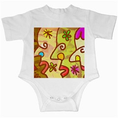 Abstract Faces Abstract Spiral Infant Creepers by Amaryn4rt