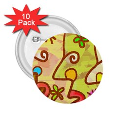 Abstract Faces Abstract Spiral 2 25  Buttons (10 Pack)  by Amaryn4rt