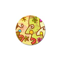 Abstract Faces Abstract Spiral Golf Ball Marker (4 Pack) by Amaryn4rt