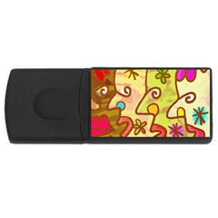 Abstract Faces Abstract Spiral Usb Flash Drive Rectangular (4 Gb) by Amaryn4rt