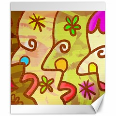 Abstract Faces Abstract Spiral Canvas 20  X 24   by Amaryn4rt