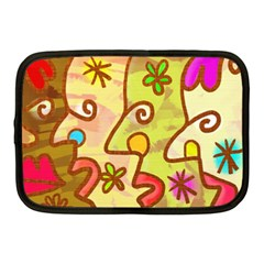 Abstract Faces Abstract Spiral Netbook Case (medium)  by Amaryn4rt