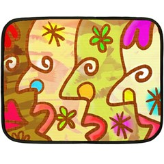 Abstract Faces Abstract Spiral Double Sided Fleece Blanket (mini)  by Amaryn4rt