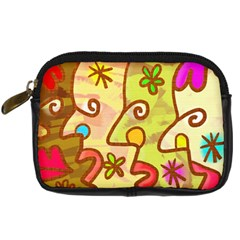 Abstract Faces Abstract Spiral Digital Camera Cases by Amaryn4rt