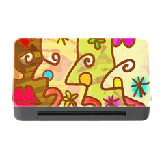 Abstract Faces Abstract Spiral Memory Card Reader With Cf by Amaryn4rt
