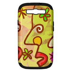 Abstract Faces Abstract Spiral Samsung Galaxy S Iii Hardshell Case (pc+silicone) by Amaryn4rt