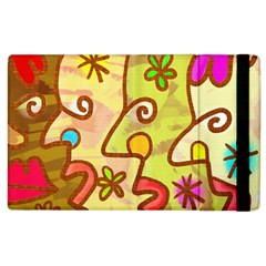 Abstract Faces Abstract Spiral Apple Ipad 2 Flip Case by Amaryn4rt