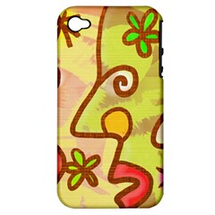Abstract Faces Abstract Spiral Apple Iphone 4/4s Hardshell Case (pc+silicone) by Amaryn4rt