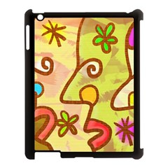 Abstract Faces Abstract Spiral Apple Ipad 3/4 Case (black) by Amaryn4rt