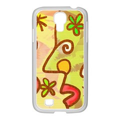 Abstract Faces Abstract Spiral Samsung Galaxy S4 I9500/ I9505 Case (white) by Amaryn4rt