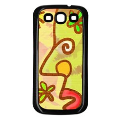 Abstract Faces Abstract Spiral Samsung Galaxy S3 Back Case (black) by Amaryn4rt