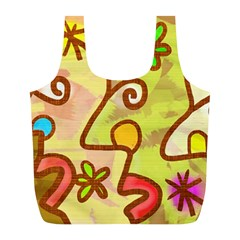 Abstract Faces Abstract Spiral Full Print Recycle Bags (l)  by Amaryn4rt